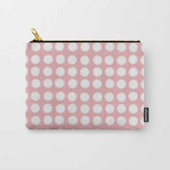 milk glass polka dots pink Carry-All Pouch