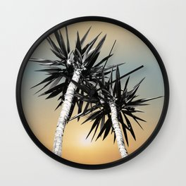Cali Summer Vibes Palm Trees #1 #tropical #decor #art #society6 Wall Clock