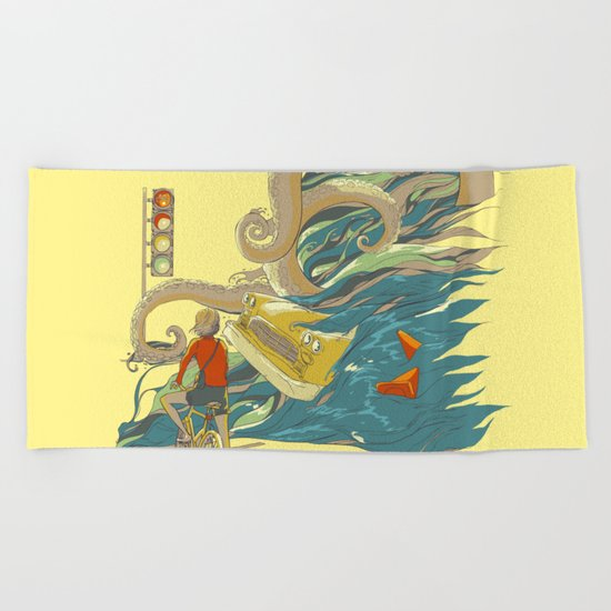 Traffic Monday Beach Towel