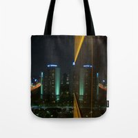 seoul Tote Bags featuring Seoul Reflection by Anthony M. Davis