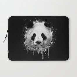 Cool Abstract Graffiti Watercolor Panda Portrait in Black & White  Laptop Sleeve