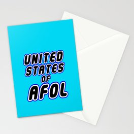 UNITED STATES OF AFOL in Brick Font Logo Design [Alternate Colors] by Chillee Wilson Stationery Cards