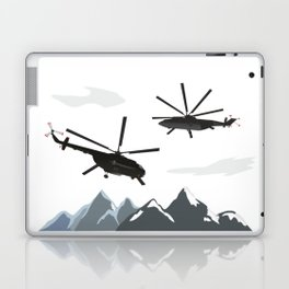 Black Helicopters in the Mountains Laptop & iPad Skin