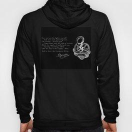 Conqueror Worm - White on Black Hoody