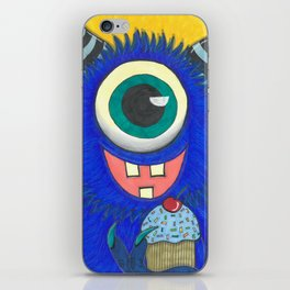Monster and his cupcake iPhone Skin