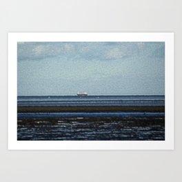 Blackrock village overlooking the Irish Sea Art Print