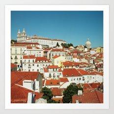 Lisbon view, Portugal Analog 6x6 Kodal Ektar 100 (RR 166) Art Print