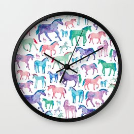 Pastel Unicorn Pattern Wall Clock