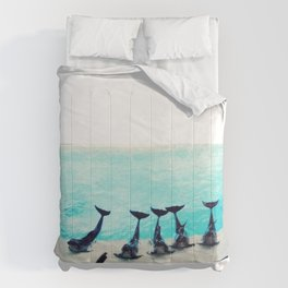 Spectacular Dolphin Show Comforters