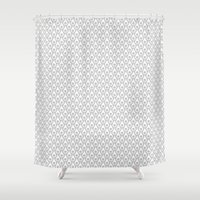 silver Shower Curtains featuring Silver by Julscela