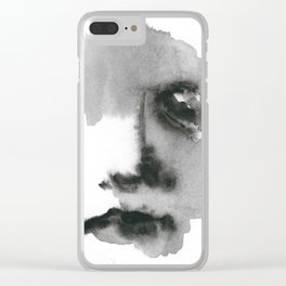 Face Blot Clear iPhone Case