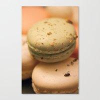 macaron Canvas Prints featuring MACARON  by Ylenia Pizzetti