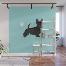 scottish terrier scotties funny farting dog breed pure breed pet gifts Wall Mural