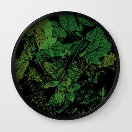 midnight plants Wall Clock