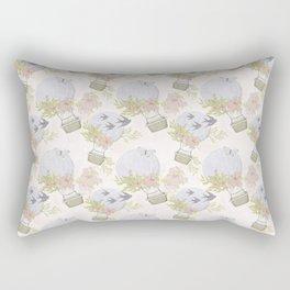 Gray Air Balloons Pattern Rectangular Pillow