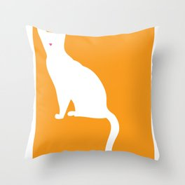 Cat Silhouettes: Singapura Cat Throw Pillow