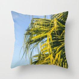 Puerto Rico Palm Tree Throw Pillow