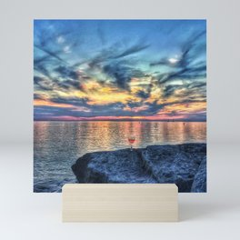 Wine & Sunsets Mini Art Print