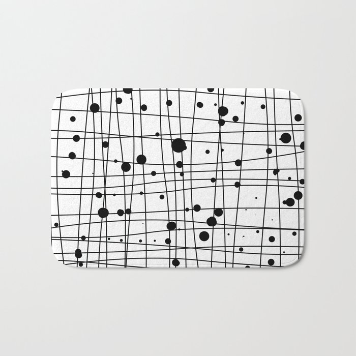 Woven Web black and white Bath Mat