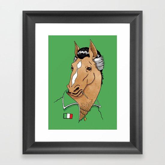 Italian Stallion Framed Art Print
