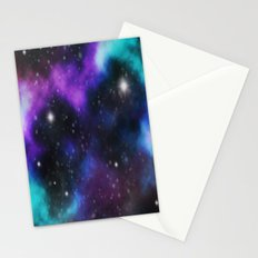 Galaxy Purple and Blue  Stationery Cards