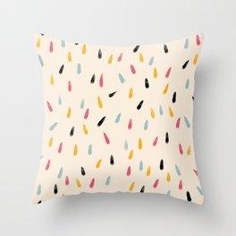 Abstract Colorful Retro Colored Rain Drops - Imugi Throw Pillow