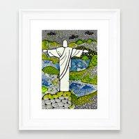 rio de janeiro Framed Art Prints featuring Rio de Janeiro - Brazil by Luciana Pupo