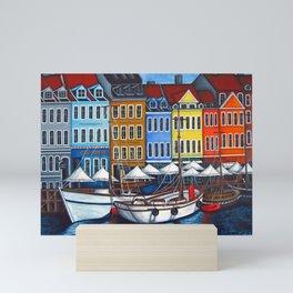 Colours of Nyhavn Mini Art Print