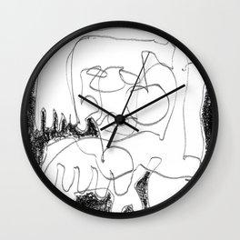 Static Noise - b&w Wall Clock