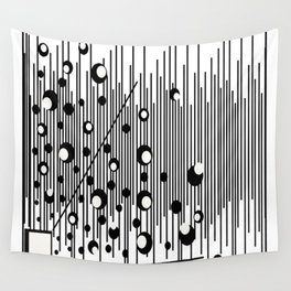 Abstract Bubbles and Bars Wall Tapestry