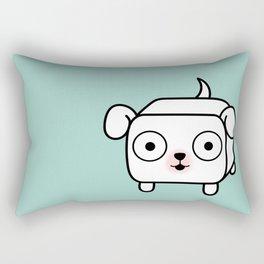 Pitbull Loaf - White Pit Bull with Floppy Ears Rectangular Pillow