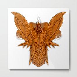 Ramshackler Orange Metal Print