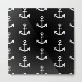 Anchors - black and white Metal Print