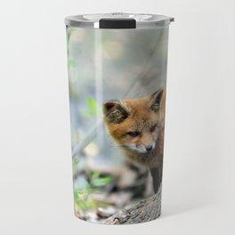 Fox cub exploring Travel Mug