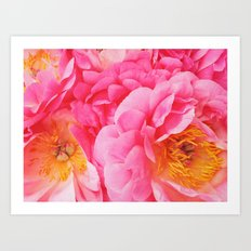 Hot Pink Peony Art Print