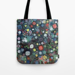 carré fleuri imaginaire 1 Tote Bag