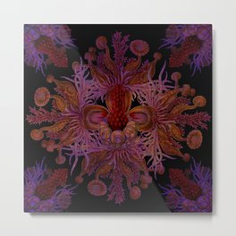 """Live Warm & Marine Mandala"" Metal Print"