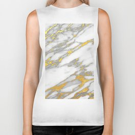 Carrara Marble with Gold Biker Tank