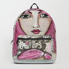 Believe in Your Own Magic Mixed Media Fairy Girl Backpack
