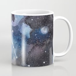 Galaxy sky in watercolors with star constellations Coffee Mug