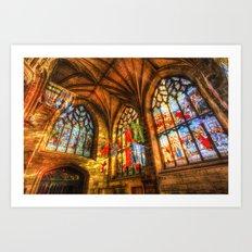 Evening Sun Cathedral Art Print