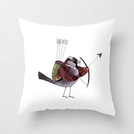 With my bow and arrow Throw Pillow
