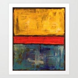 Primary Rothko Art Print