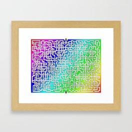 Rainbow Colored Maze Framed Art Print
