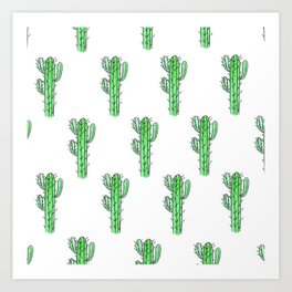 Saguaro Love II PATTERN Art Print