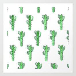Saguaro Love II PATTERN Art Print