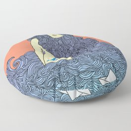 Mermaid of sea Floor Pillow