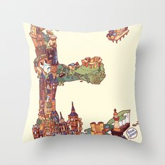 E is for England Throw Pillow