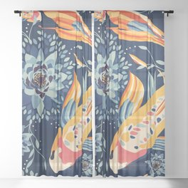The Lotus Pond Sheer Curtain