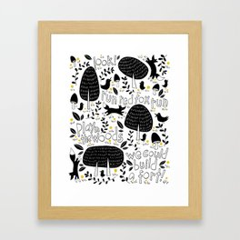 Let's Play In The Woods Framed Art Print